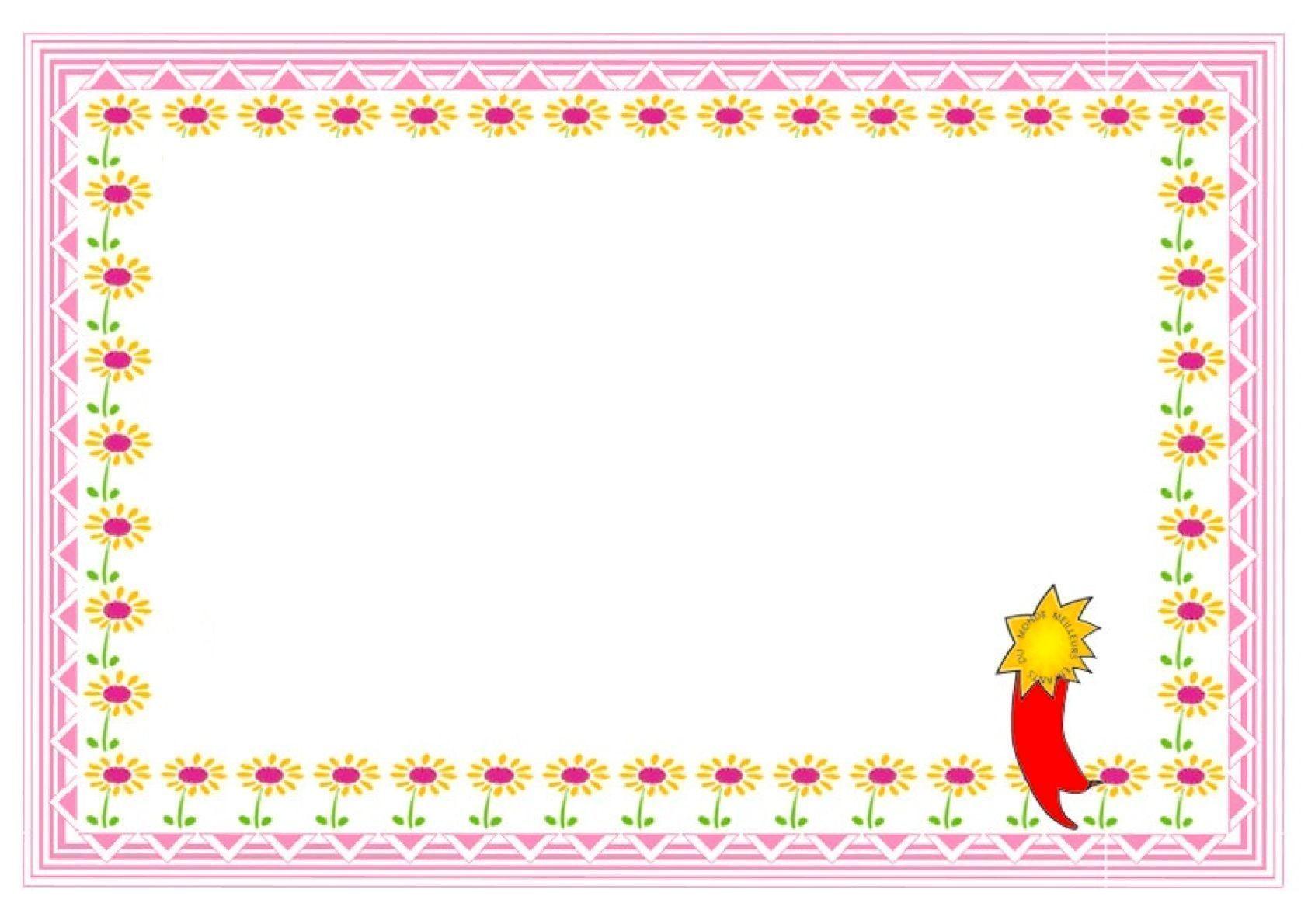 Plantillas De Diplomas 6 Idibujos Infantiles