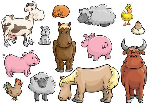 Cartoon Farm Animals Clip Art