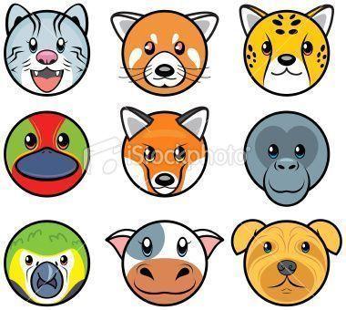 CARAS DE ANIMALES para imprimir o descargar