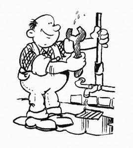 Dibujo de fontanero - El fontanero en casa ...