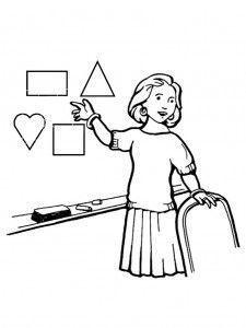 dibujo de maestra