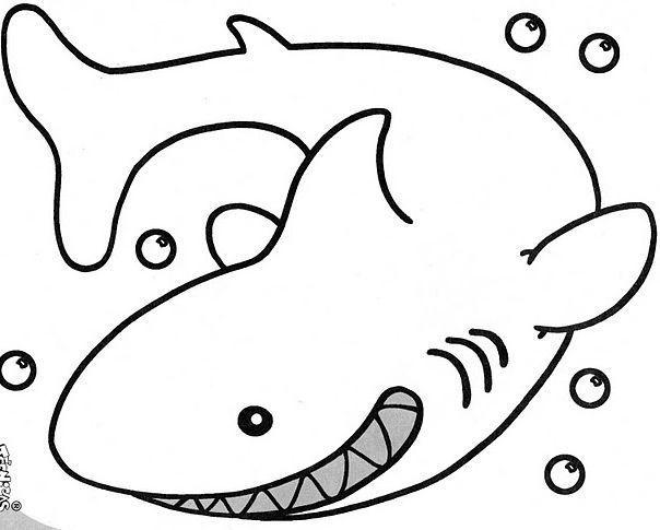 Dibujos Animados De Tiburones Para Colorear: IDibujos