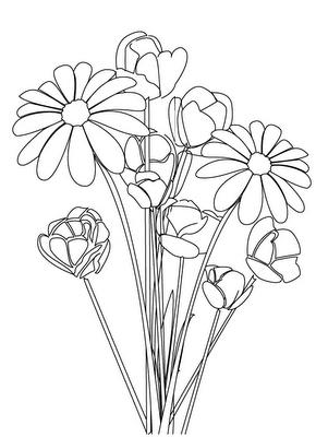 Dibujos de flores - Plantillas para pintar cuadros ...