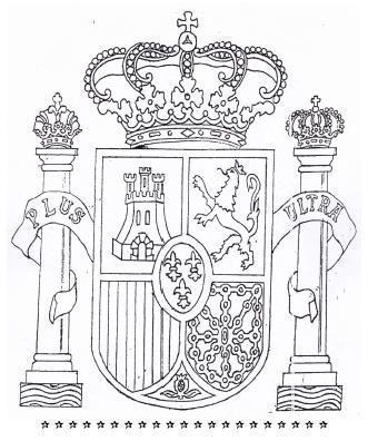 Escudo de España para colorear