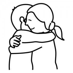 dibujo abrazar