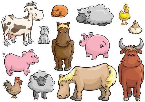 dibujos animales de granja
