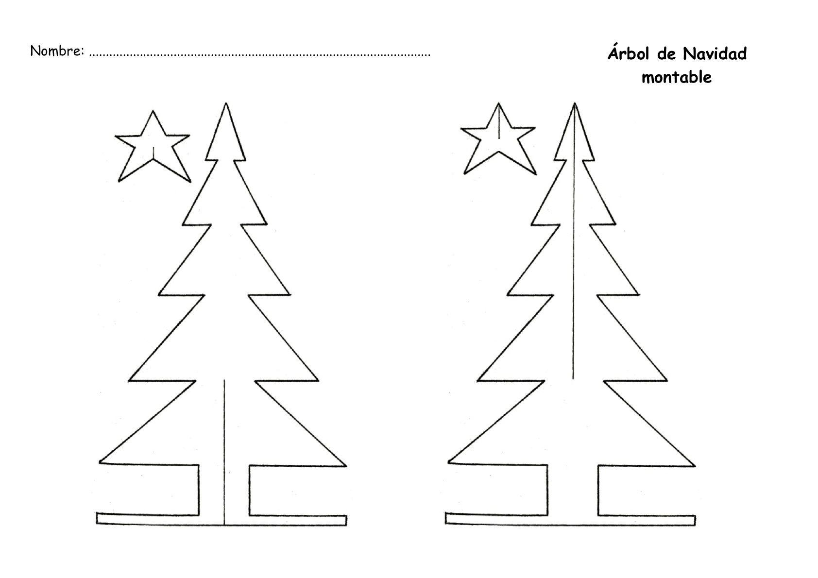 Arbol De Navidad Montable Para Imprimir