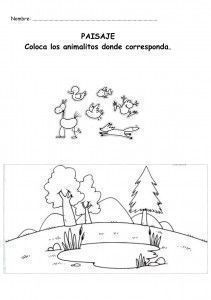 COLOCA Y COLOREA ANIMALES