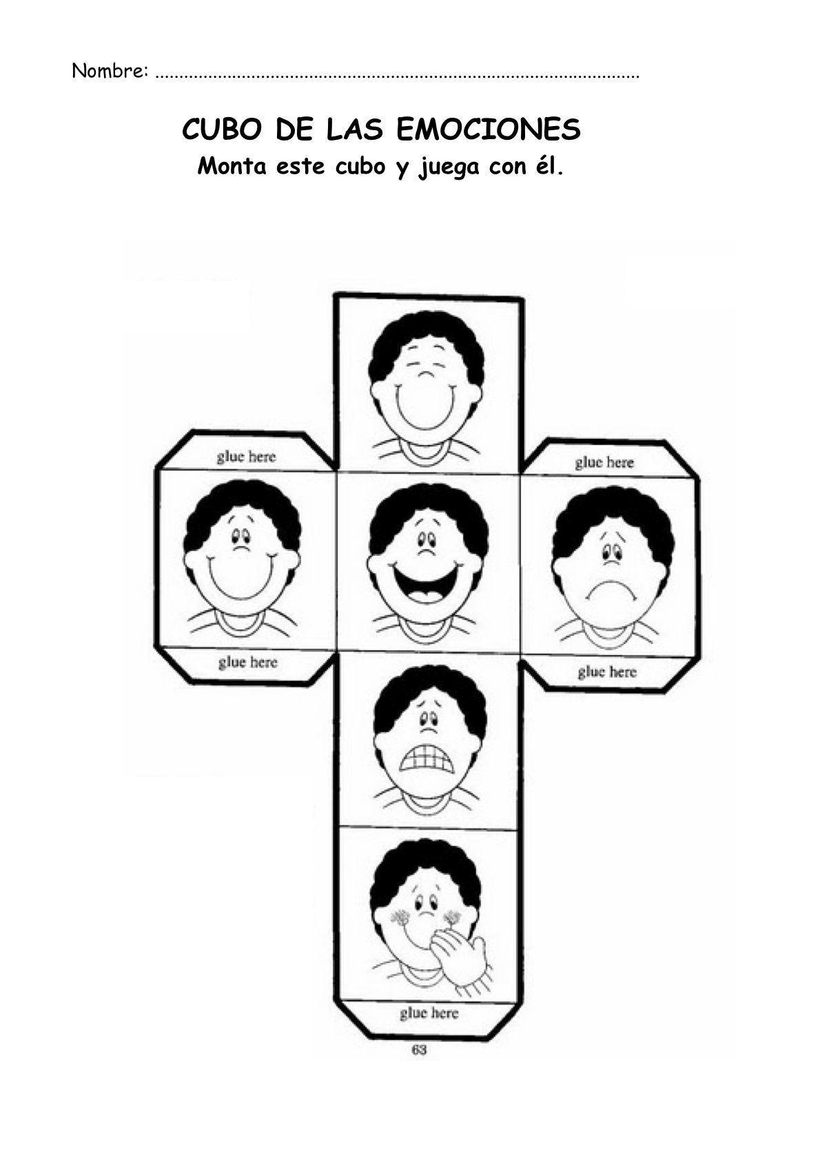 Manualidad Cubo Emociones