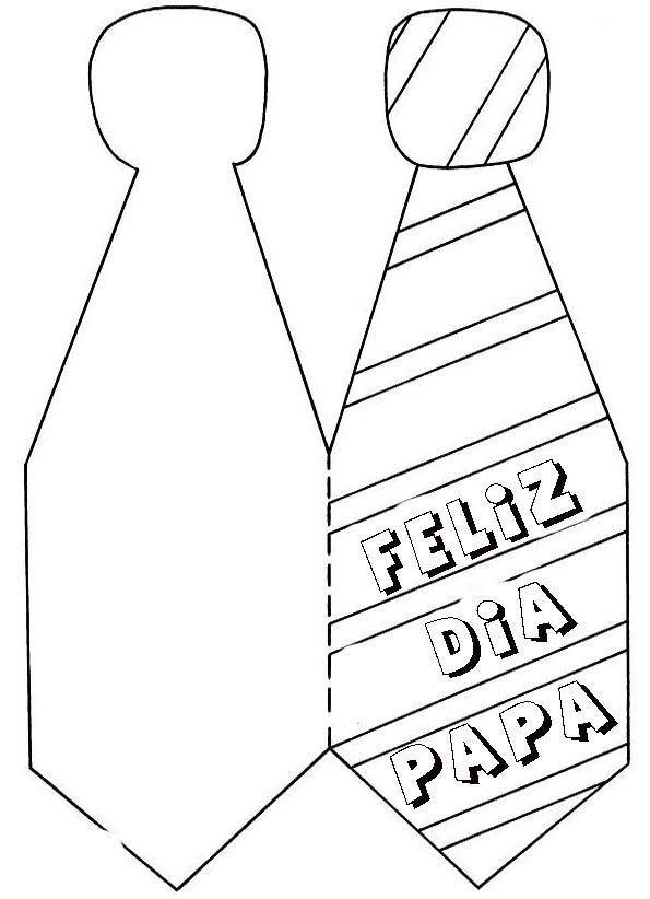 Tarjeta Corbata Dia Papa 01 Idibujos