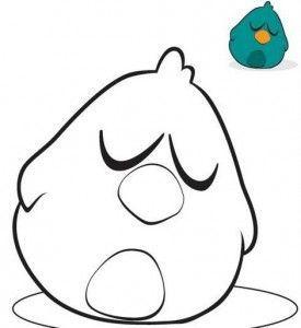 dibujo de pollito de pocoyo para colorear