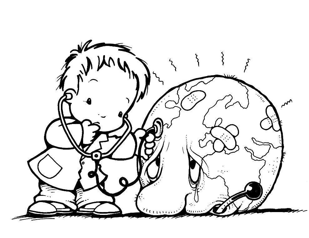 Dibujo Dia Mundial Del Medio Ambiente
