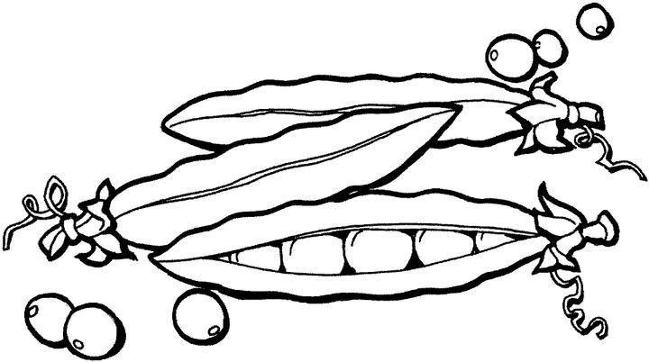 dibujo de guisantes