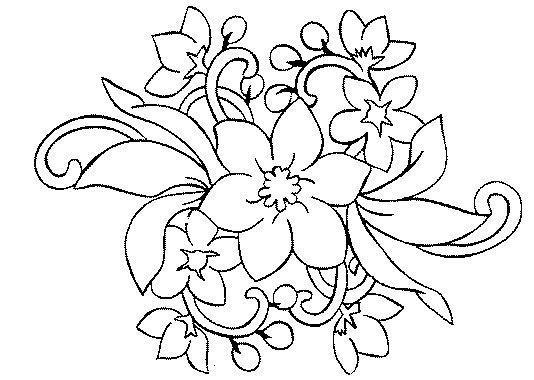 Dibujos de flores - Coloriage fleur de lys ...