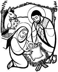 Dibujos Del Nacimiento Del Niño Jesus