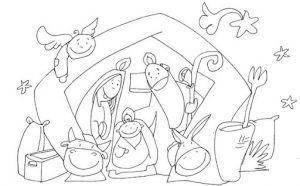 Dibujos de Belenes y Reyes Magos para colorear