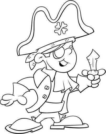 Dibujos de piratas para colorear